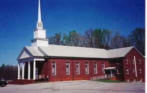 Warrior Creek Baptist Church in Laurens, SC Land for original building was donated by Edward and Ann Garrett